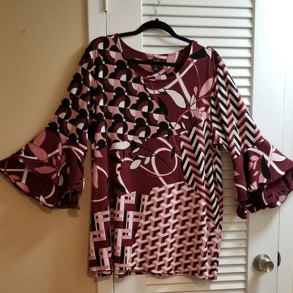 Alfani Tops - Alfani  High - Low Printed Tunic